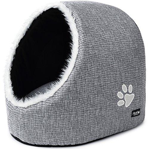PetPäl Cueva para Animales | para Gatos y Perros pequeños | Casa de Gato Cama Cueva para Perros Mascotas | Suave Cueva con Cojín Extraíble