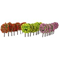 Docooler Mixed 3 Colors Ball-Shaped Flower Trees Model Train Layout Garden Scenery Landscape Trees Diorama Miniature 30…