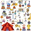 RoomMates Repositionable Childrens Wall Stickers Big Top Circus
