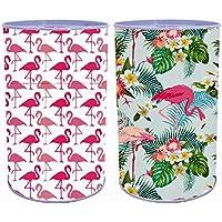 Preisvergleich für Bada Bing 2er Set Spardose Flamingo in Bunt Tropical Sommer Blechdose Metall Sparschwein 173