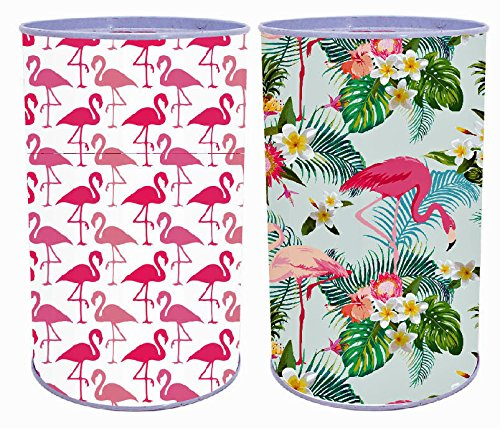 Bada Bing 2er Set Spardose Flamingo in Bunt Tropical Sommer Blechdose Metall Sparschwein 173 -