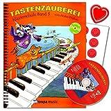 Tastenzauberei Band 3 - Klavierschule von Aniko Drabon - Schule für Einzel- und Gruppenunterricht in deutscher Sprache mit CD, 7 lustige Smiley-Sticker und bunter herzförmiger Notenklammer