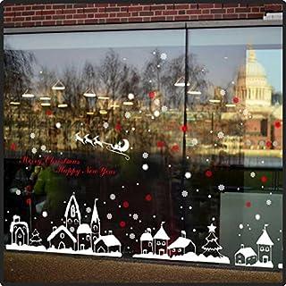 Fensterdekoration Weihnachten - großes Set mit Rakel und Verklebeflüssigkeit