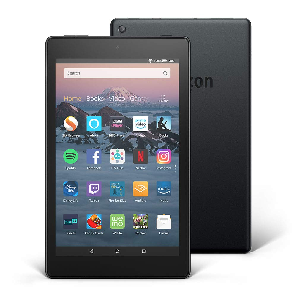 Fire HD 8 Tablet, 16 GB, Black— with Ads (Previous Generation – 8th)