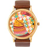 Aztec Cats - Women's Leather Wrist Watch