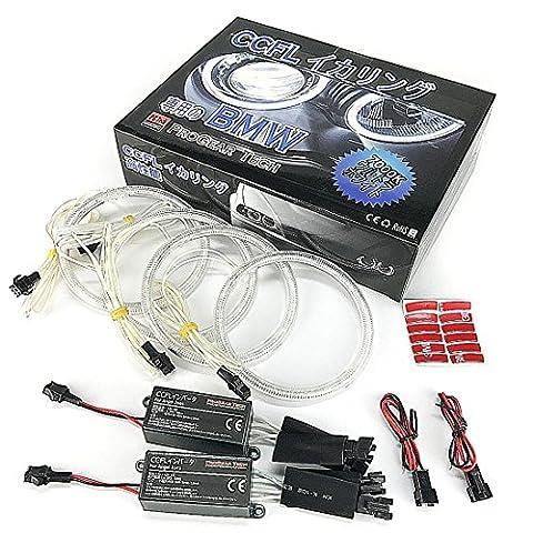 ProGear Tech CCFL Angel Eyes Halo Anneaux DRL pour E46CI (04–06) Facelift Coupé/Cabriolet avec Vidéoprojecteur Phare