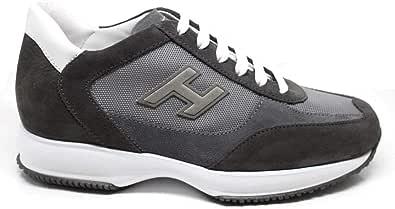 Hogan Sneaker Uomo Interactive H Flock Etichetta Grigia