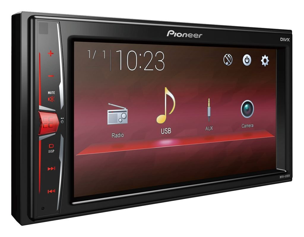 Autoradio-Radio-Pioneer-MVH-A100V-2DIN-USB-Touch-TFT-Einbauzubehr-Einbauset-fr-Peugeot-207-307-JUST-SOUND-best-choice-for-caraudio