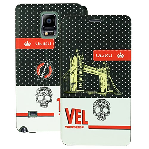 Heartly Country Series Printed PU Leather Flip Bumper Case Cover For Samsung Galaxy Note 4 - Rugged Black  available at amazon for Rs.249