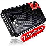 KEDRON Batterie Externe 24000mAh Power Bank Chargeur Portable Deux Entrées & 3 Ports Haute Vitesse Technologie Digi-Power Téléphone Android Tablette PSP D'Autre USB Via Device ...