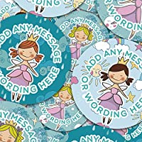 Graphic Flavour Cute Fairy Ballerinas Personalised, Reward Sticker Labels, Children, Parents, Teachers