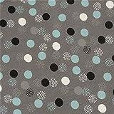 0,5m Jersey Dotties grau-türkis Punkte Dots 5% Elasthan