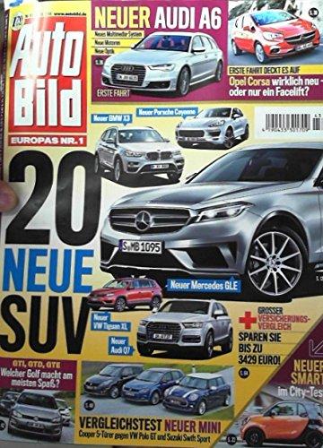 AutoBild 43/14 - 20 NEUE SUV, Neuer Audi A6, Opel Corsa: wirklich neu-oder nur ein Facelift?, Vergleichstest Neuer Mini, Neuer Smart im City-Test