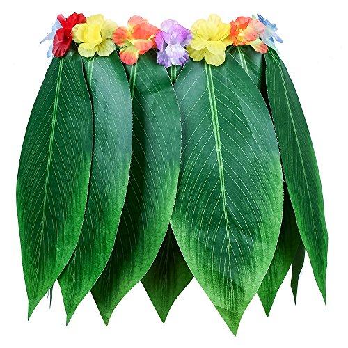 LIUYUNE,Gonna Hawaiian Luau Green Leaf Panno Artificiale Simile alla Seta per Il Beach Dance Party(Color:Mare Verde)