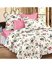 Ahmedabad Cotton Comfort 160 TC Cotton Double Bedsheet with 2 Pillow Covers - Cream