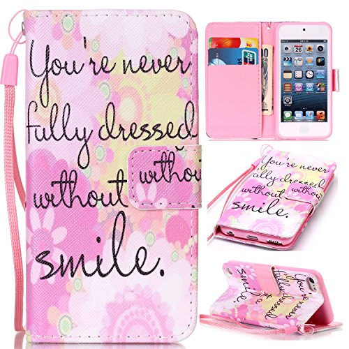 Qiaogle Telefon Case - PU Leder Wallet Schutzhülle Case für Apple iPhone 6 / iPhone 6S (4.7 Zoll)) - YB42 / Traumfänger YB38 / without a smile