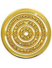 Amello Acero Inoxidable Coin círculos circonitas joyas piedras oro para coinsfassung Acero Inoxidable esc534yy