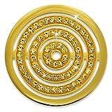Amello Edelstahl Coin Kreise Zirkonia Schmucksteine gold für Coinsfassung Edelstahl ESC534YY