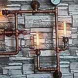 Coquimbo Vintage Retro Wasser Rohr Licht Retro Nostalgie Industrie Wand Lampen Dekor Wandleuchte ohne Lampen