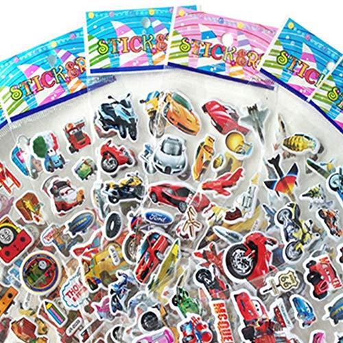Ogquaton Premium-Qualität Eine Packung Kinderaufkleber Sweet Candy Lollipop Kinder Spaß Aufkleber Bunte Kindheit Stereo Aufkleber Heimtextilien und Wandaufkleber