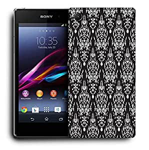 Snoogg White Pattern Designer Protective Phone Back Case Cover For Sony Xperia Z3