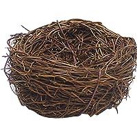 Lorenlli Rotin Nidification nid d'oiseau Accessoires Artisanat poulailler décoration de la Maison décoration Naturel à…