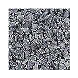 Doubleyou Geovlies & Baustoffe 10 kg Basalt Splitt Anthrazit Körnung 8-16 mm