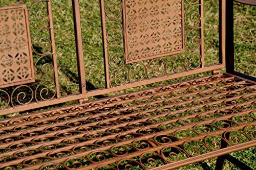 """Exklusive Gartenbank """"Yago"""", ergonomische Sitzfläche, Sitzbank in neuem Design und sehr stabiler Metallausführung - 2"""