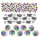 34g Deko Konfetti 70er Jahre Hippie Party Tischkonfetti Bunte Dekokonfetti Disco Partykonfetti Geburtstag Tischdeko