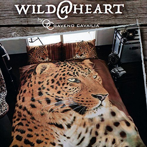 Gaveno Cavailia WILDLIFE 3D LEOPARD Bed Set with Duvet Cover and Pillow Case, Polyester-Cotton, Multi-Colour, Single