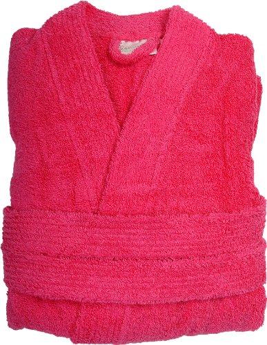 Sensei 096147M.09 - Accappatoio da bagno Luxury, taglia M, colore: Azzurro L Rosa Rosa