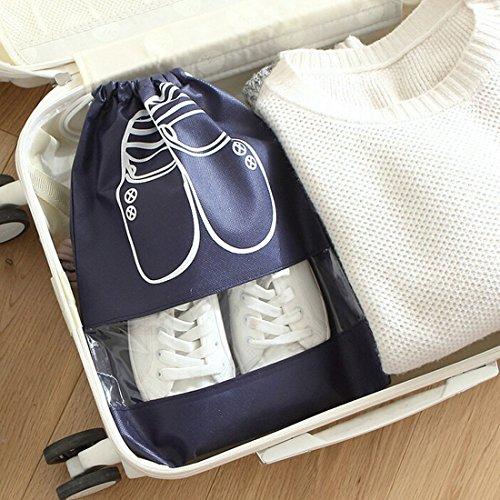 kilofly ber1177Travel Sleeve Transparent Lagerung Organizer Kordelzug Shoe Bag Set pc10 M
