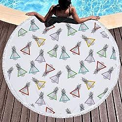 Toalla de playa grande redondo microfibra Piña Sandía Toalla de playa playa manta Toalla Mantel de picnic pared colgantes Yoga Alfombras 150cm 5
