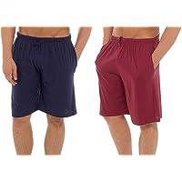 INSIGNIA Mens Twin Pack Pyjamas Cotton Lounge Shorts Bottoms