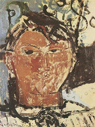 1art1 58479 Amedeo Modigliani - Bildnis Pablo Picasso, 1915, Detail Poster Kunstdruck 80 x 60 cm -