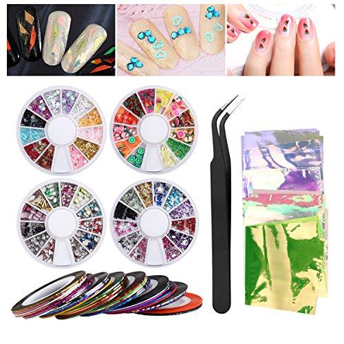 Etereauty Nail Art Set 30 Striping Tape Nail Art Decoration Sticker