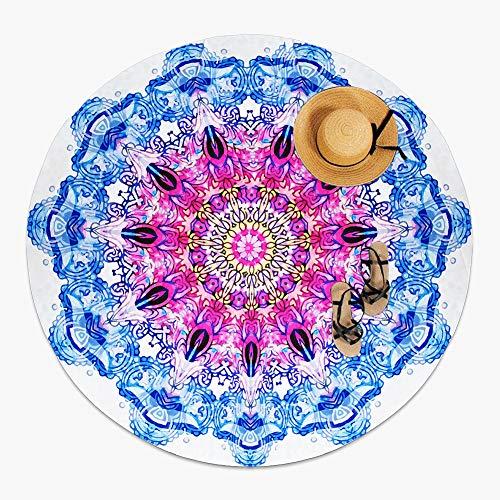 MOYA Life Toalla de playa redonda, estilo mandala indio, boho hippie tablecloth beach towel, esterilla de yoga o para picnic mat
