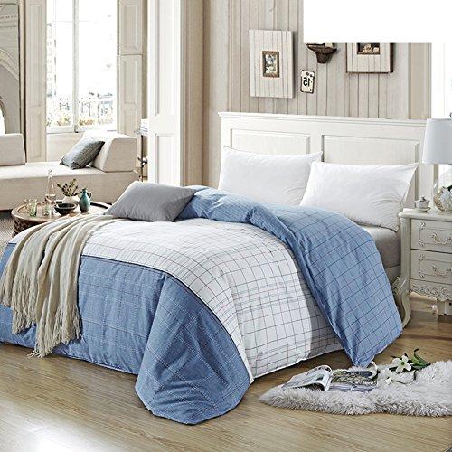 Bettbezug,Student Schlafsaal Baumwolle Twill Tröster abdeckung herbst und winter Tröster abdeckung Bettwäsche (Include:Bettbezug X 1)-K 90.5*98.4inch(230*250cm) - Baumwoll-twill Tröster