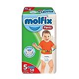 Molfix Junior Baby Diaper Pants, 58 Pieces - Size 5