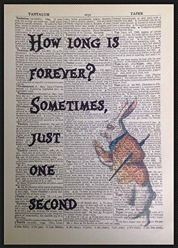 Alice im Wunderland wie lange IS FOREVER Zitat Vintage Wörterbuch Print Bild (Alice Im Wunderland Poster)
