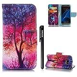[S7] Hülle für Samsung Galaxy S7,BtDuck Buntes Muster Kreativ Fantasie Handyhülle Samsung Galaxy S7 PU Leder Flip Wallet