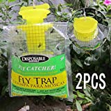 Best Fly Catchers - Mayitr 2pc/lot Outdoor Garden Disposable Fly Trap Fly Review