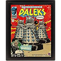 Doctor Who Daleks Comic Cover 3D Lenticular Poster, Multi-Colour, 10 x 8-Inch
