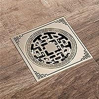 Drenaje de piso de cobre antiguo de bronce en el suelo del baño de agua de control de caudal de drenaje drenaje desodorante