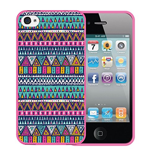 iPhone 4 iPhone 4S Hülle, WoowCase Handyhülle Silikon für [ iPhone 4 iPhone 4S ] Cool Swag Smile Handytasche Handy Cover Case Schutzhülle Flexible TPU - Rosa Housse Gel iPhone 4 iPhone 4S Rosa D0478