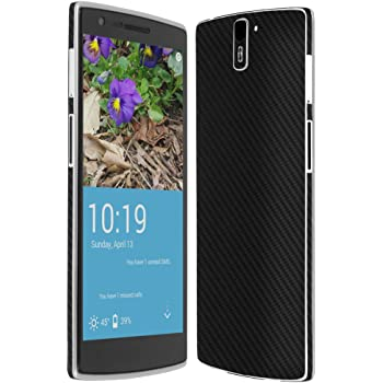 Skinomi® TechSkin - OnePlus One Screen Protector + Carbon Fiber Full Body Skin Protector / Front & Back Premium HD Clear Film / Ultra High Definition Invisible and Anti-Bubble Crystal Shield with Free Lifetime Replacement Warranty - Retail Packaging