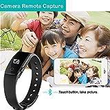 Schrittzähler Smart Armband, AsiaLONG Bluetooth Armbanduhr Aktivitätstracker Fitnessarmband mit Schritt / Schlafanalyse / Kalorienzähler / Vibrationswecker Anruf SMS SNS Vibration für Gehen,Laufen,Joggen für Android IOS (SW320) - 7