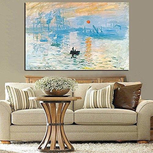 RTCKF Art Monet Impresionista Famosa Pintura Lirio
