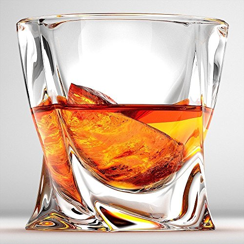 Cooko Twist Whisky Glser Ultra Clarity Glas Set Splmaschinenfest Wein Geschenke 2er Set 300ml106 Oz