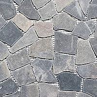 Mosaik Fliese Marmor Naturstein Schwarz Bruch Ciot Fr Boden Wand Bad Wc  Dusche Kche.